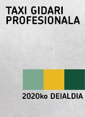 Taxi Gidari Profesionala 2020ko Deialdia